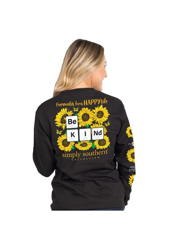 ****Simply Southern Long Sleeve Kind Sun Black