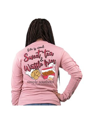***Simply Southern Long Sleeve Sweet Crepe (Chick Fil A)