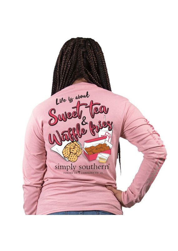 ****Simply Southern Long Sleeve Sweet Crepe (Chick Fil A)