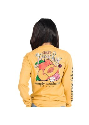 ***Simply Southern Long Sleeve Peachy Mustard