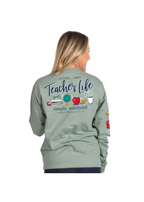 ***Simply Southern Long Sleeve Teacher Hazel