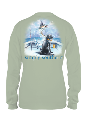 ***Simply Southern Long Sleeve Guy Boat Hazel