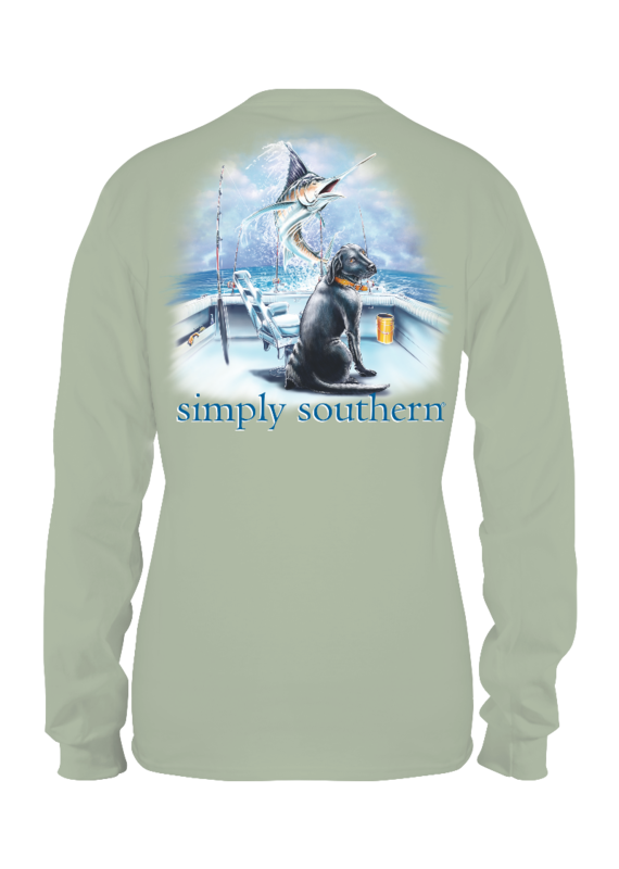 ****Simply Southern Long Sleeve Guy Boat Hazel
