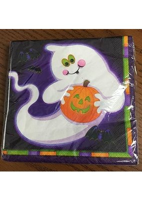 ****Ghost & Pumpkin Halloween Lunch Napkins 20ct