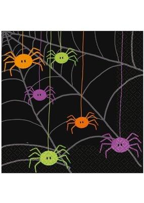 ****Spider Frenzy Halloween Lunch Napkins 20ct