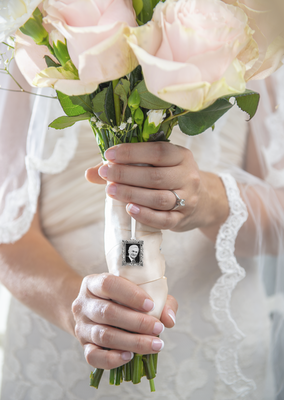 ***Memorial Wedding Bouquet Charm