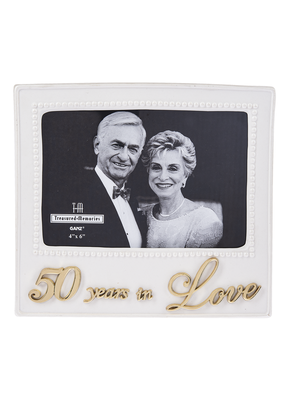 ***50 Years in Love Porcelain Frame