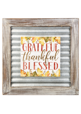 ***Grateful Thankful Blessed Layered Sign