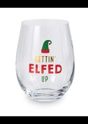 ***Gettin' Elfed Up Wine Glass
