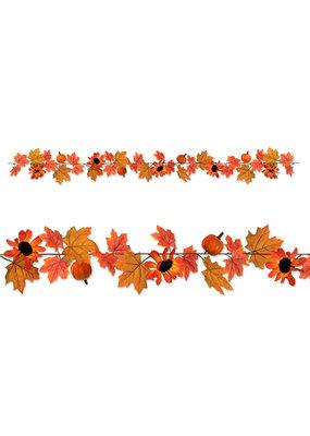 ****Autumn Leaf Fabric Garland 6ft