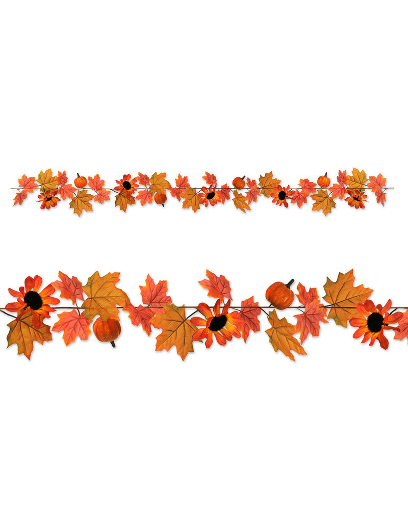 Autumn Leaf Fabric Garland 6ft Amys Party Store