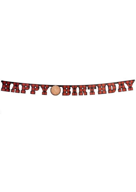 ****Buffalo Plaid Birthday Banner