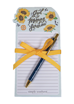 ***Simply Southern Good Morning Sunshine Notepad & Pen