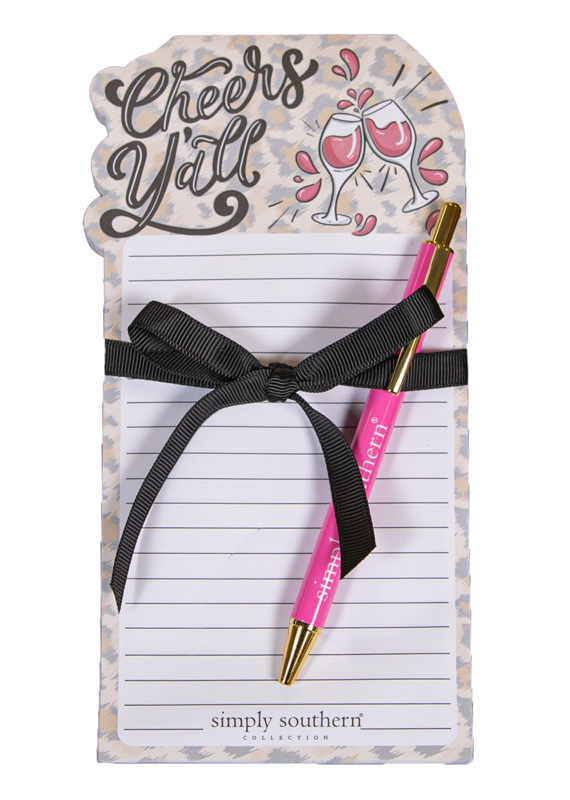 ***Simply Southern Cheers Yall Notepad & Pen
