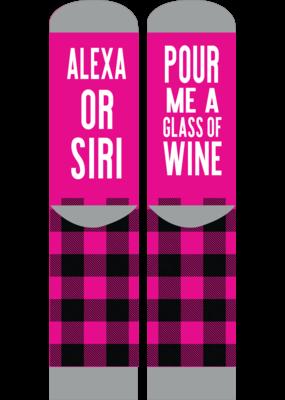 ***Simply Southern Alexa Siri Pour me Wine Socks