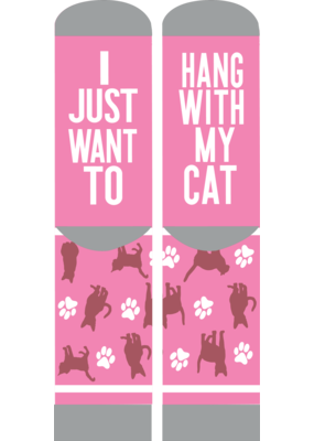 ***Simply Southern Hang With My Cat Socks