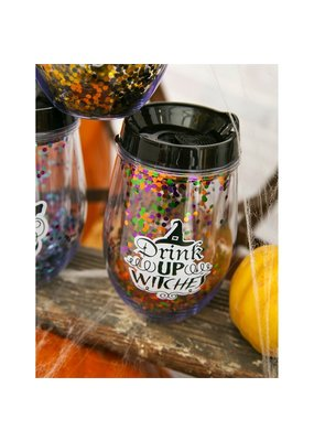 ***Drink Up Witches Wine Tumbler
