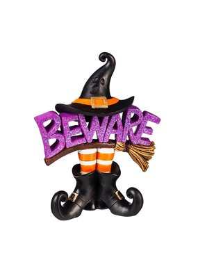 ***Witch Beware Tabletop Decor