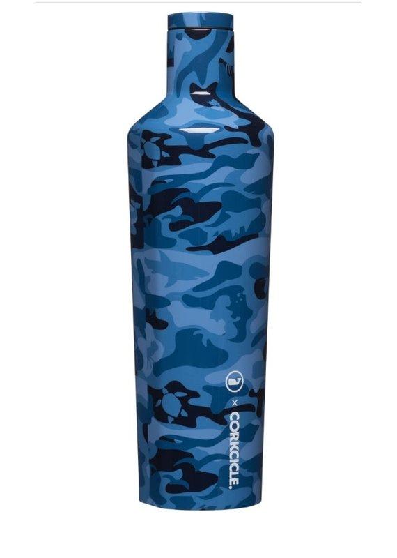 Corkcicle ***Corkcicle Vineyard Vines Blue Camo 25oz Canteen