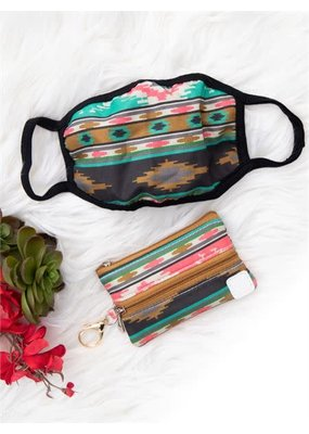 Southern Grace ***Aztec Facemask & Pouch