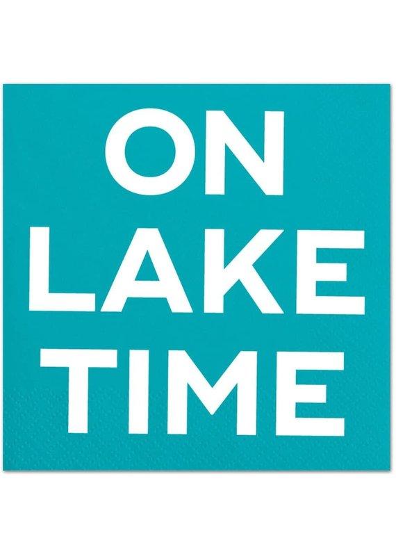 ****On Lake Time Beverage Napkins