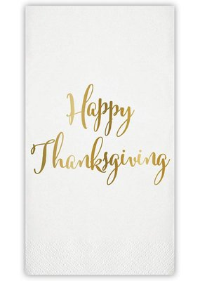 ****Happy Thanksgiving Foil Guest Towel
