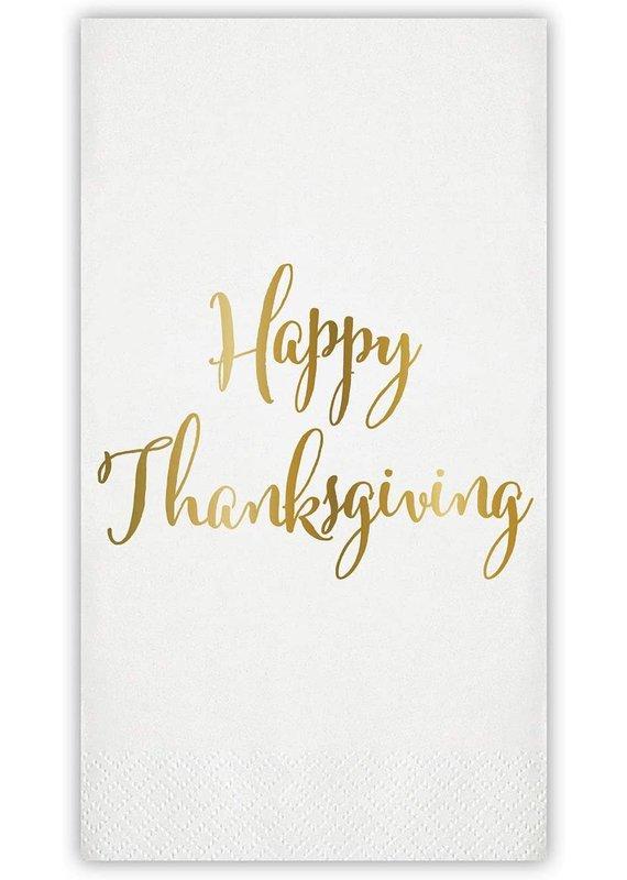 ****Happy Thanksgiving Foil Guest Towel