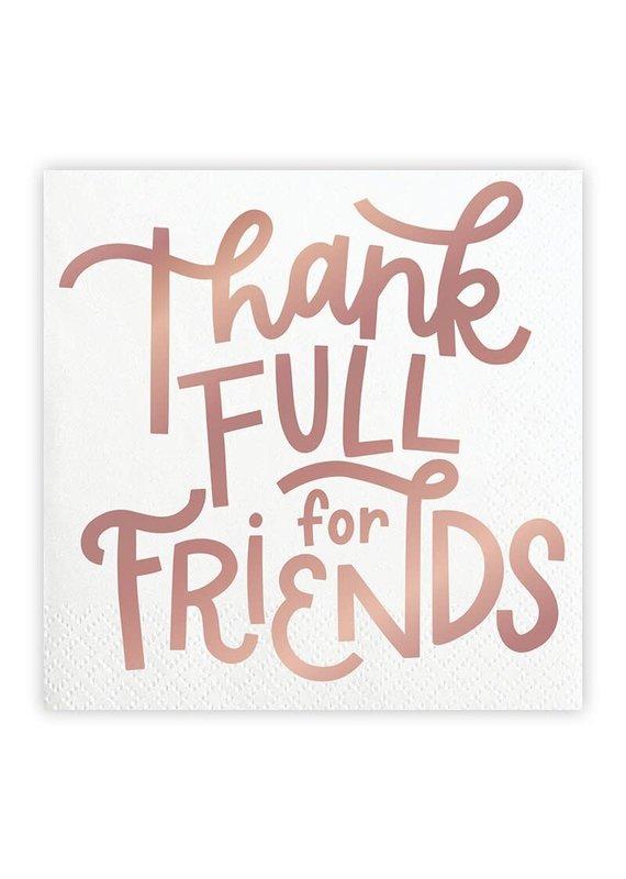 ****Thankful For Friends Friendsgiving Beverage Napkin