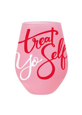 ***Treat Yo Self Jumbo Wine Glass