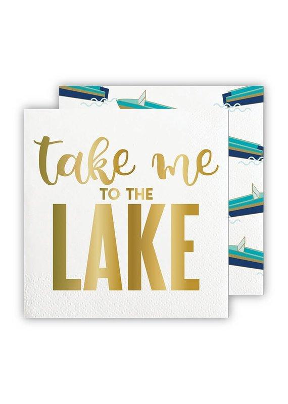 ***Take Me To The Lake Beverage Napkins