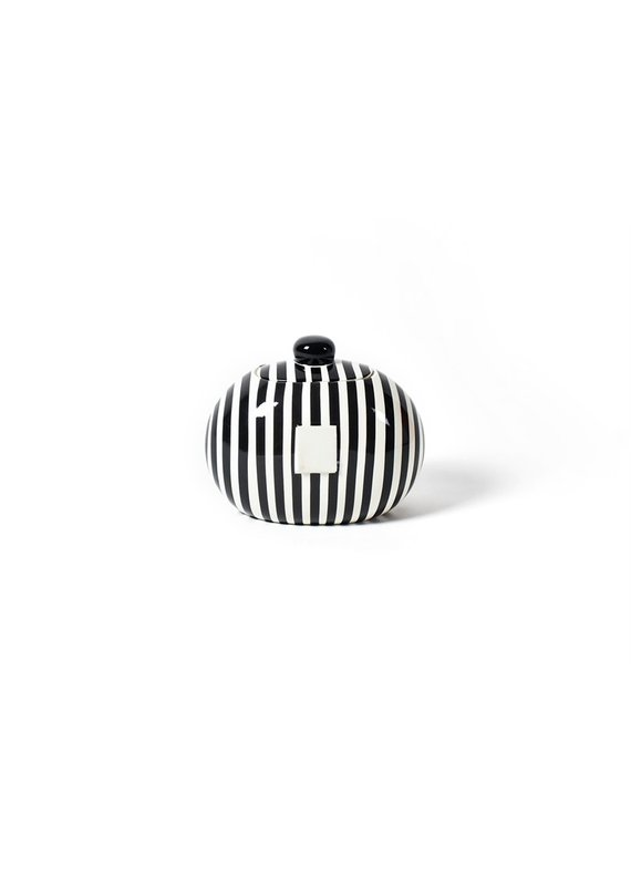 Cotton Colors ***Happy Everything Black and White Mini CookieJar