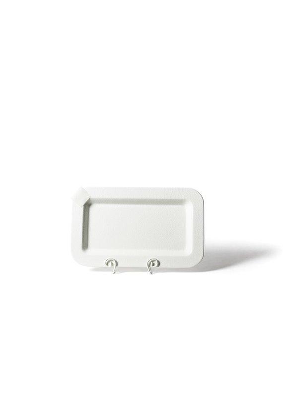 Cotton Colors ***Happy Everything White Small Dot Mini Entertaining Platter