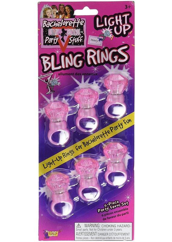 ***Light Up Jumbo Bling Rings