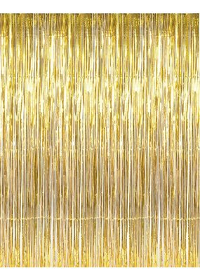 ****Gold Fringe Doorway Curtain