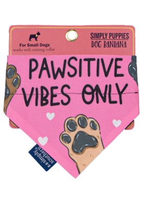 ***Simply Southern Dog Bandana Pawsitive Vibes Only