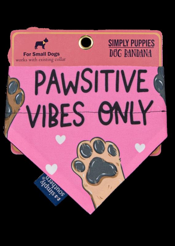 ***Simply Southern Dog Bandana Pawsitive Vibes Only