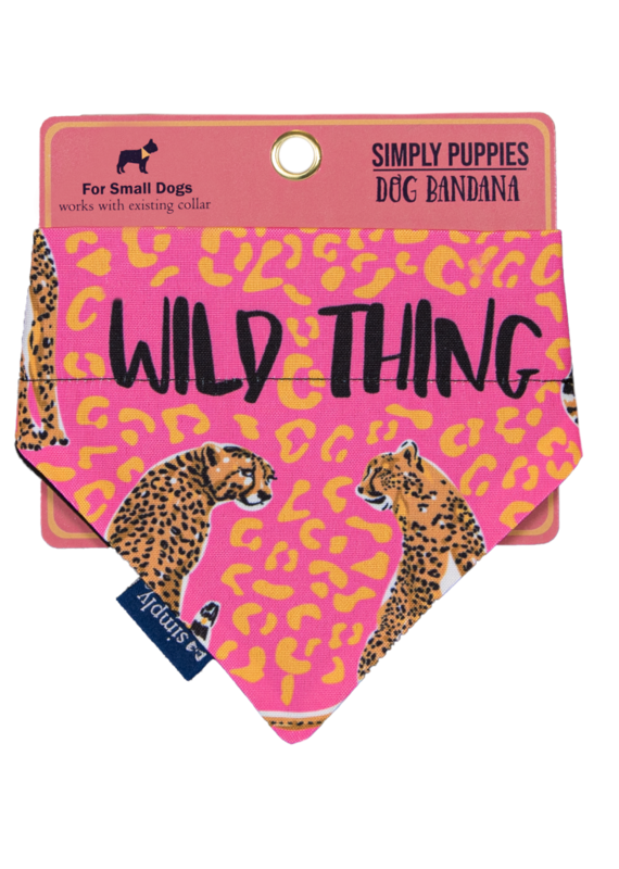 ***Simply Southern Dog Bandana Wild Thing