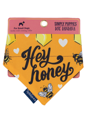 ***Simply Southern Dog Bandana Hey Honey Bee