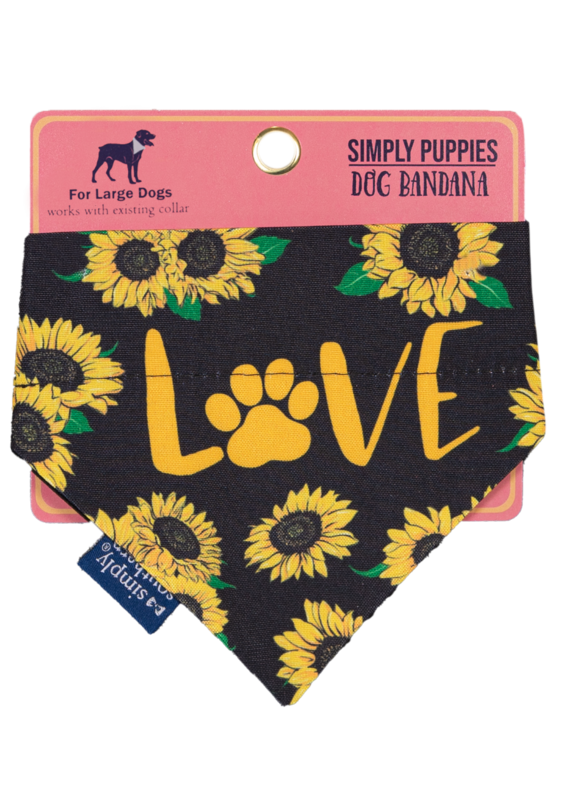 ***Simply Southern Dog Bandana Sunflower Love