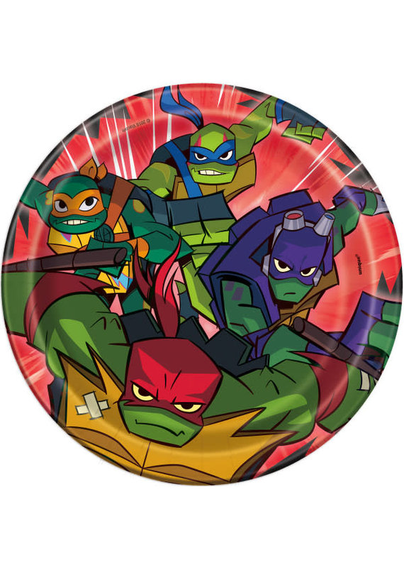 "*****Rise of the TMNT Round 7"" Dessert Plates, 8ct"