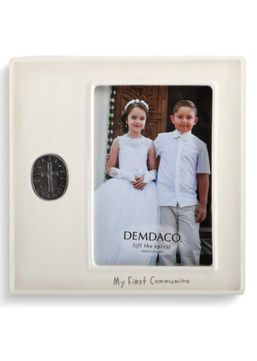 ***My First Communion Medallion Frame