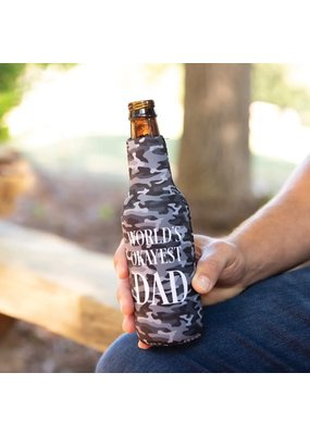 Mary Square ***World's Okayest Dad Bottle Sleeve w/Bottle Opener