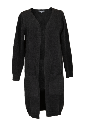***Simply Southern Fuzzy Black Cardigan Duster