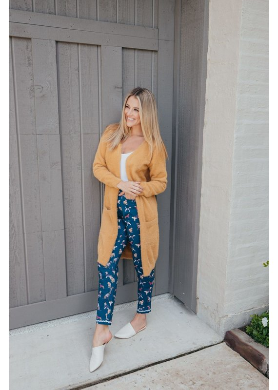 ***Simply Southern Fuzzy Mustgard Yellow Cardigan Duster
