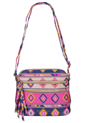 ***Simply Southern Leather Satchel Aztec