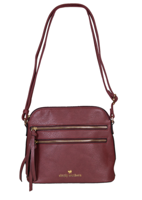 ***Simply Southern Leather Satchel Maroon
