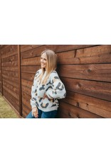 ***Simply Southern Sweater Cheetah Brown