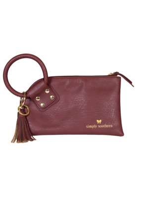 ***Simply Southern Bangle Clutch Maroon