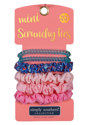 ***Simply Southern Mini Scrunchies Ties Paisley