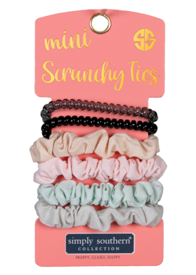 ***Simply Southern Mini Scrunchies Ties Neutral